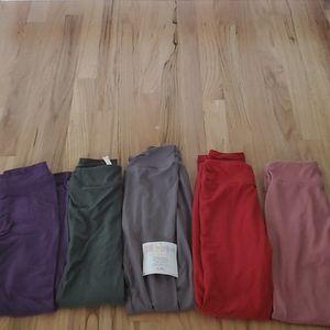 Lot of 5 pairs Lularoe kids girls leggings L / XL